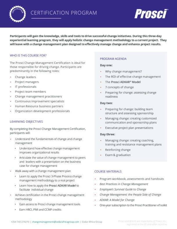 thumbnail of Prosci Change-Management-Certification Program