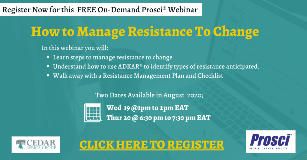 Webinar How To Manage Resistance To Change